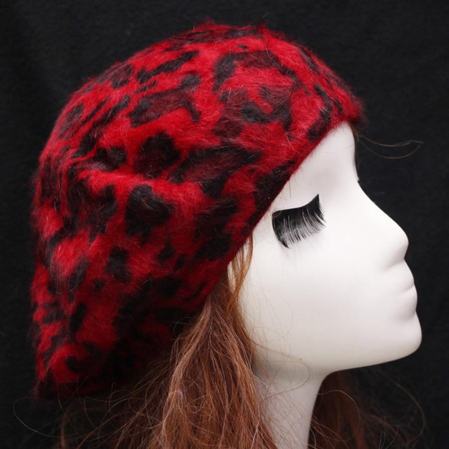 Jesen in zima Nova moda Ženske tople baretke Leopard Vzorec Ženske - Oblačilni dodatki - Fotografija 3