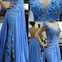 New Arrival Appliques Beaded Mother Of The Bride Dresses 2019 Scoop Illusion Back Cap Sleeves Mother Dress for weddings