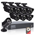 ZOSI HD 8CH CCTV System 8 Channel 720P DVR 8PCS 1.0MP Bullet Outdoor Home Video Camera System Surveillance Kits 1TB Hard Disk