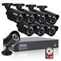 Zosi hd 8ch cctv sistema de 8 canais 720 p dvr 8 pcs 1.0mp bala Ao Ar Livre Sistema de Câmera de Vigilância de Vídeo Em Casa Kits de 1 TB de Disco Rígido