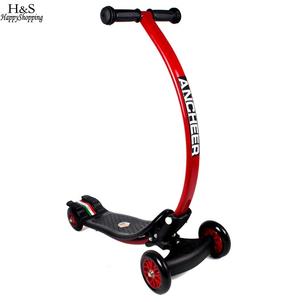 Nouveau scooter planche enfants Mini 3 roues planche à roulettes mouvement Drifter longue conduite pousser Scooter