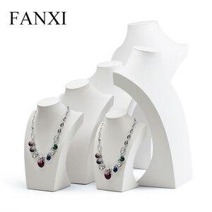 FANXI Stylish White PU leather