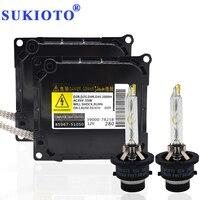 SUKIOTO Original Xenon Kit D4S 55W 5500K Fast Bright 35W D4s Xenon Ballast Kit 85967 51050