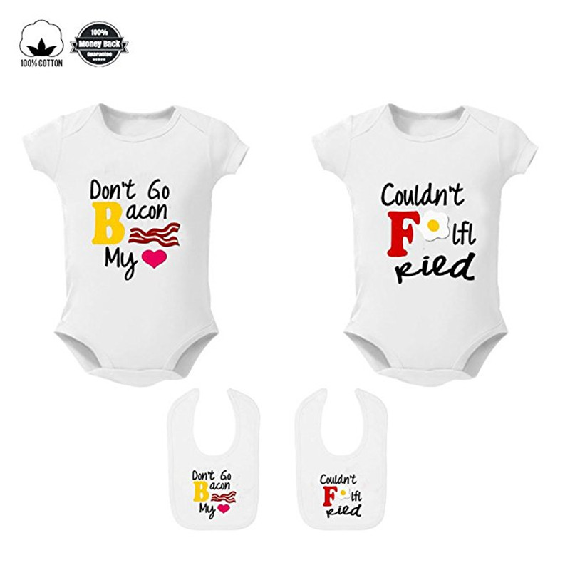 YSCULBUTOL Baby Bodysuits for Unisex Girls Boys Short Sleeve Twin Clothes Moms
