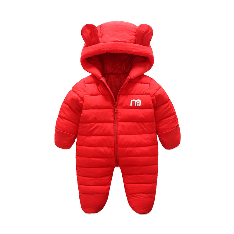 cade3eb16 Baby Snowsuits Newborn Infant Overalls With Bootie Winter Baby ...