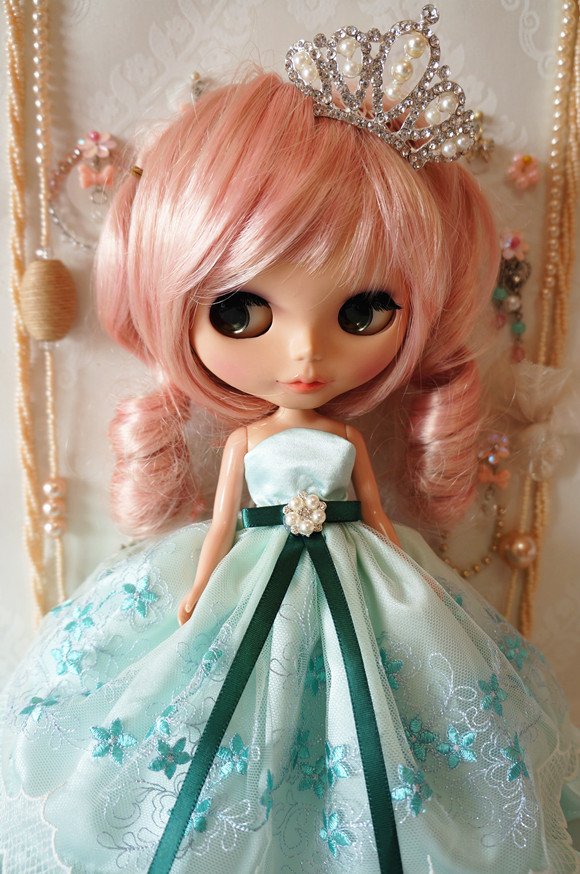 Crown for 1//6 ICY Blythe Doll Accessories Lace dress 3Piece//Set Underskirt