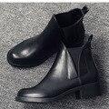 De alta calidad botas de cuero genuino otoño invierno tobillo botas sexy martin Botas de piel de nieve botas impermeables zapatos de mujer de La Motocicleta