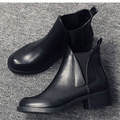 High quality genuine leather boots autumn winter ankle boots sexy martin fur waterproof snow boots shoes woman Motorcycle Boots
