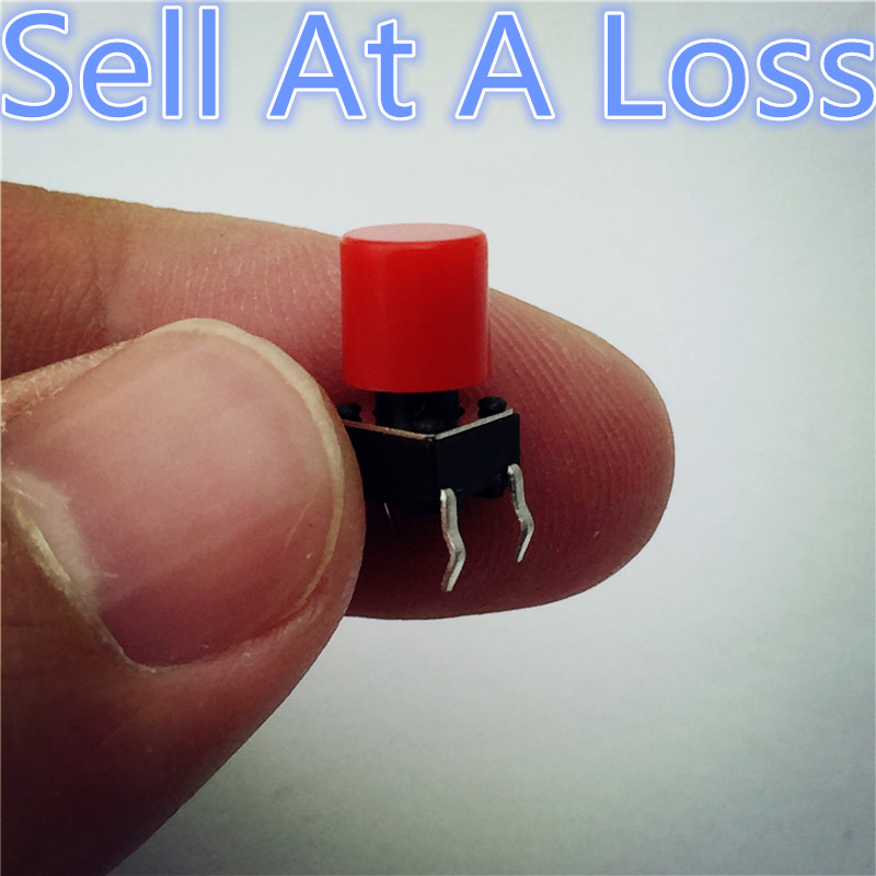 100pcs G61 High Quality Red Plastic Cap Hat For 6*6mm Tactile Push Button Switch Lid Cover Sell At A Loss USA Belarus Ukraine 10pcs g101 pbs 11a 2pin red plastic 12mm push button latching switch self lock 3a 250v high quality sell at a loss usa belarus