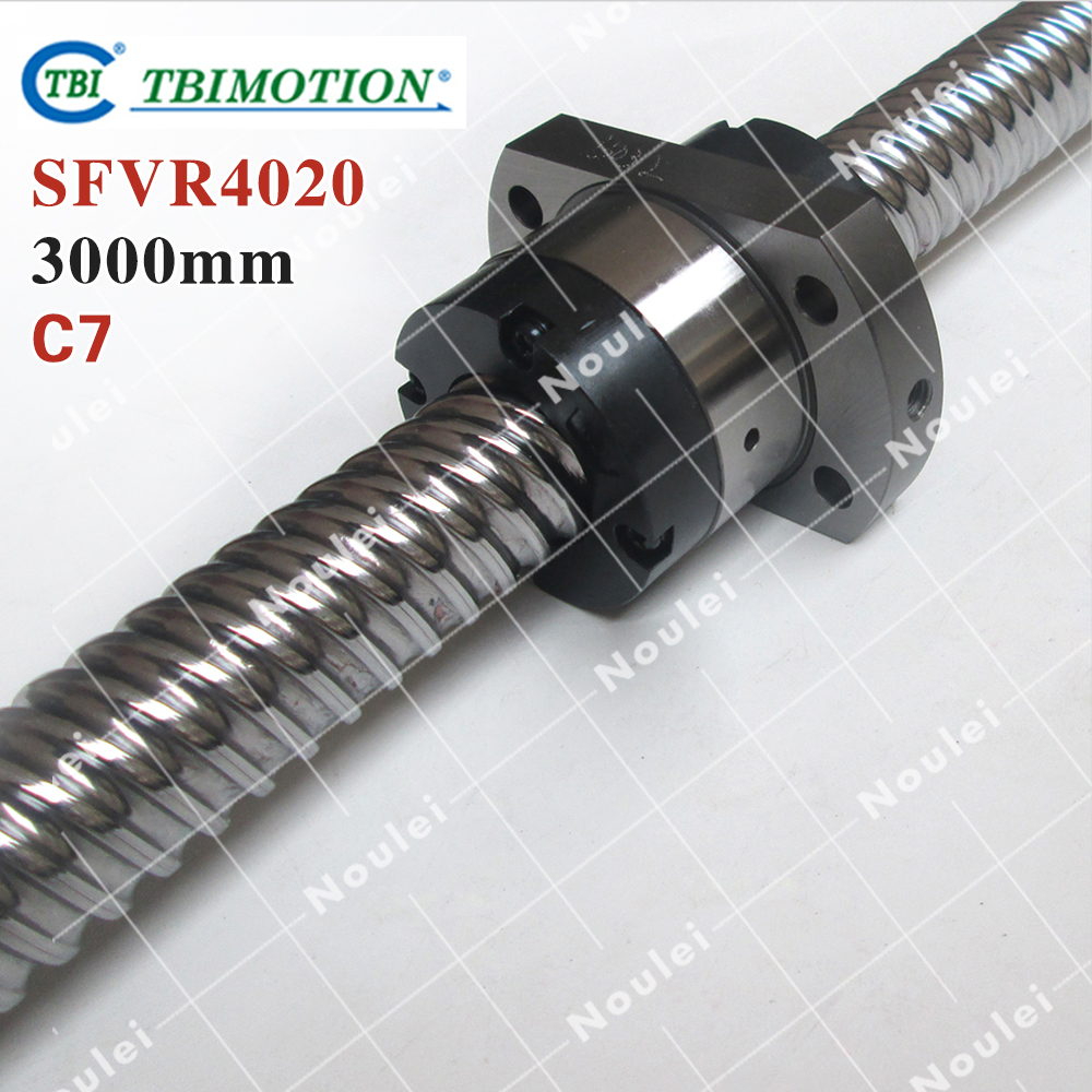 TBI 4020 C7 3000mm ball screw 20mm lead with SFV4020 ballnut for high stability CNC z axis diy kit Custom set of Taiwan festina f16127 a