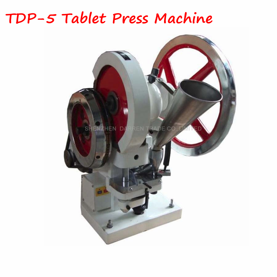 110V/ 220V Mini Single Punch Tablet Press Machine 50KN Pressure Press Harder Pill Maker With English Instruction TDP-5 недорого