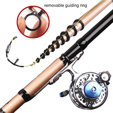 YUYU Carbon 4.5m 5.4m 6.3m 7.2m Telescopic Spinning Fishing Rod lure weight 3-50g Front-end Fishing Rod 3 position Drag 5kg camenae 50g 3