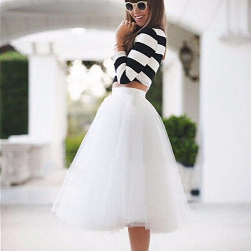 Белая тюль юбка