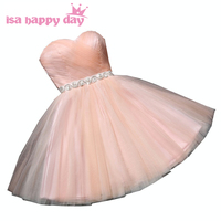 bridesmade sexy birthday peach length formal dress modest bridesmaids short sweetheart dresses new fashion 2018 for party H3930