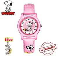7d9dcdbe5f7e Snoopy Kids Watch Fashion Women Watches Casual Quartz Wristwatches Mens  Watches Cute Snoopy Leather Children Clock. Snoopy niños reloj ...