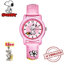 snoopy kids watch fashion women watches casual Quartz Wristwatches mens cute leather children clock gift snw772