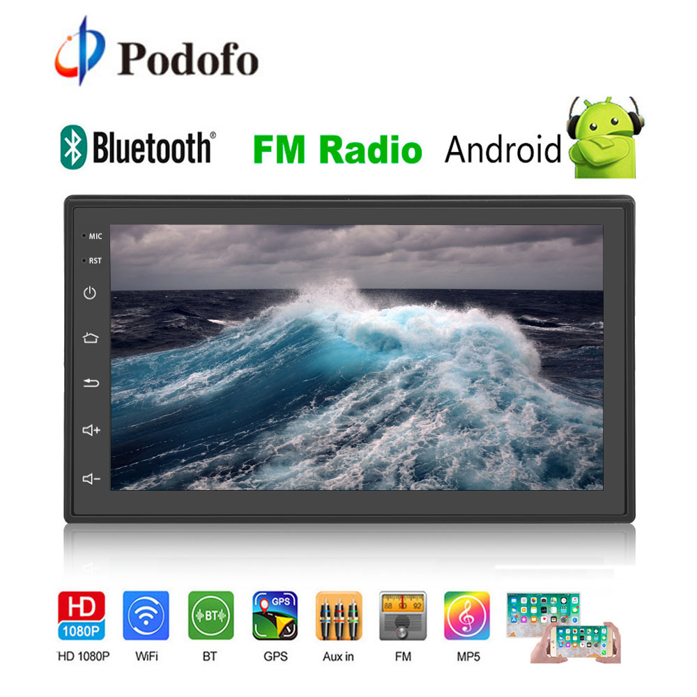 Podofo 2 din Android GPS Car Radio 7 2din Wifi MP5 Multimedia Player 1/16GB Mirror link Bluetooth Autoradio FM/AUX/USB AudioPodofo 2 din Android GPS Car Radio 7 2din Wifi MP5 Multimedia Player 1/16GB Mirror link Bluetooth Autoradio FM/AUX/USB Audio