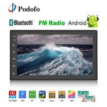 """Podofo 2 din Android GPS Per Auto Radio 7 """"2din Wifi MP5 Lettore Multimediale 1/16 GB Specchio link bluetooth Autoradio FM/AUX/USB Audio"""