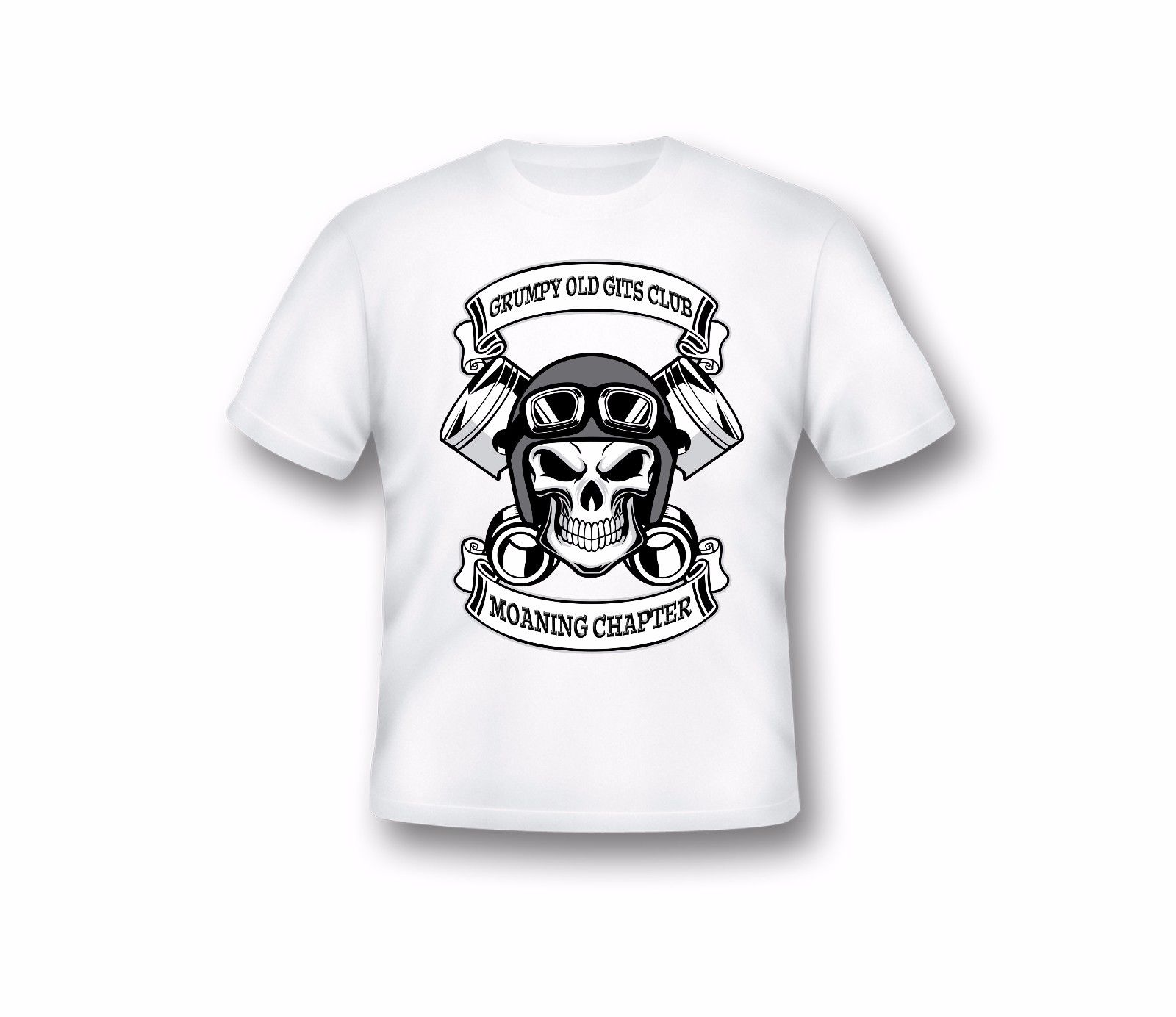 Gildan VECCHIO SCONTROSO GITS Moaning Chapter T Shirt, Uomo, Divertenti T-Shirt,