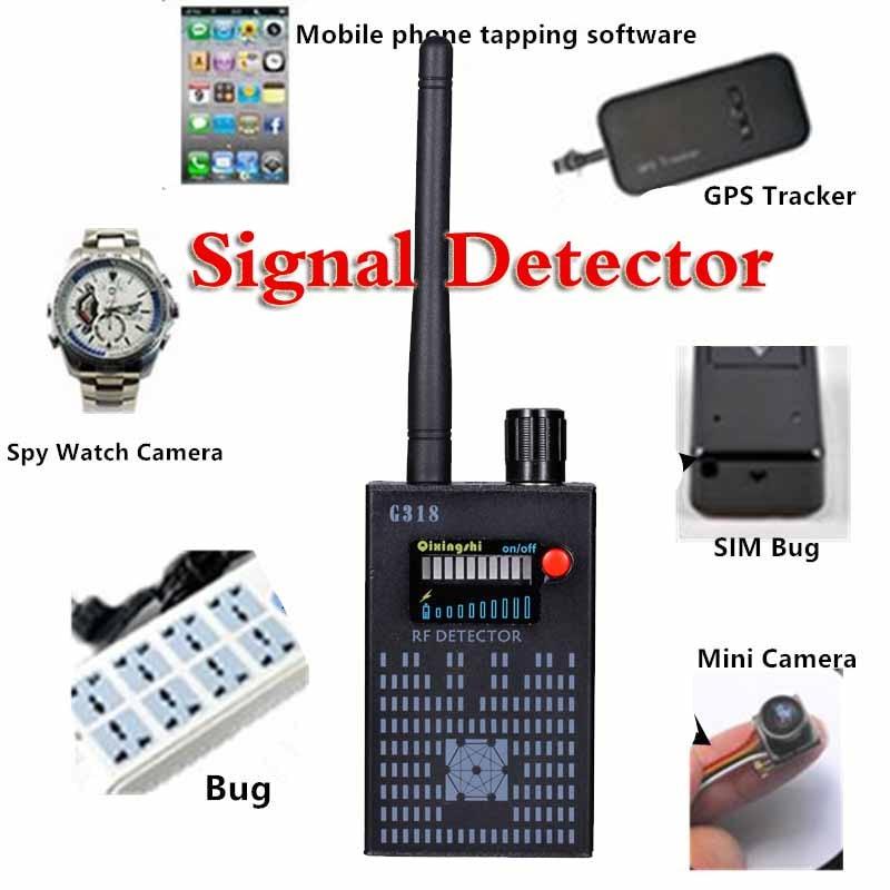 Nouvelle mise à jour 1 MHz-8000 MHz détecteur de Signal sans fil Radio onde WiFi détecteur de bogue caméra pleine gamme RF détecteur G318