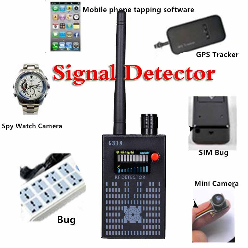 цена new update 1MHz-8000MHz Wireless Signal Detector Radio Wave WiFi Bug Detector Camera Full-Range RF Detector G318