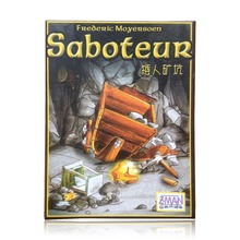 Pack/simple expansion/vip game, rules saboteur pack, multiple language cards board table