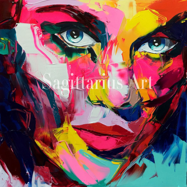 francoise nielly designers hand painted palette knife modern