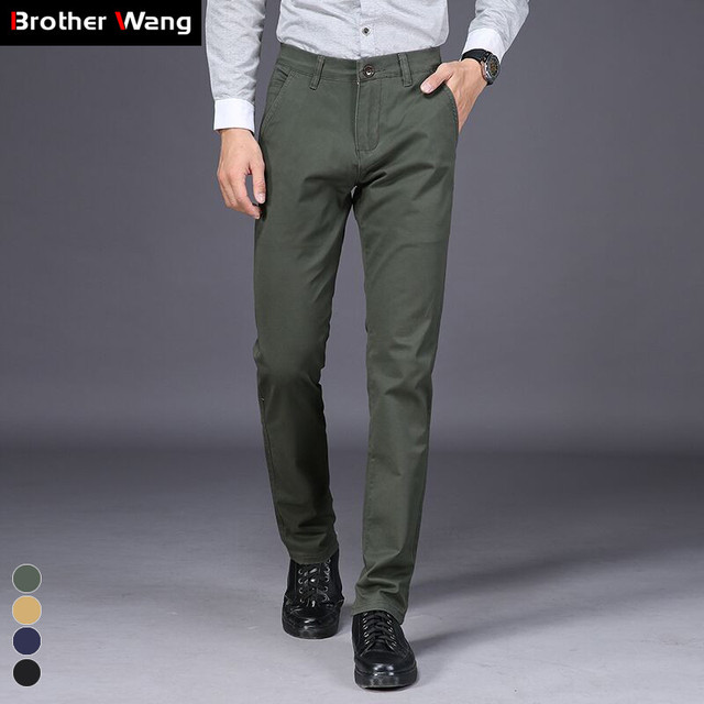 42 44 46 Plus Size Men's Casual Pants High Quality 2019 New Straight Slim Fit Business Cotton Trousers Male Brand Clothes