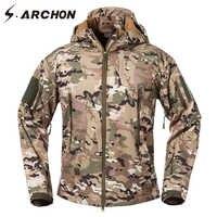 S. アルコン戦術フリースジャケット男性暖かいソフトシェルの軍事迷彩上着フード付き防水ジャケットコート軍の服