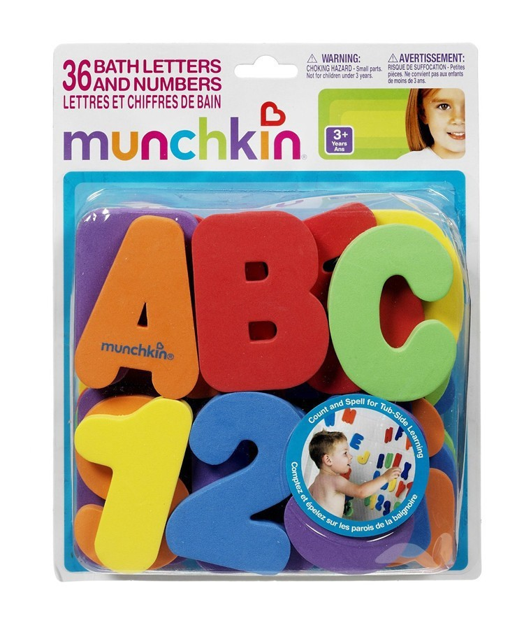 36 PCs Merek EVA bayi mandi mainan / Nomor Surat besar Menempel Di Dinding Keselamatan Belajar Air Pendidikan Mainan Klasik
