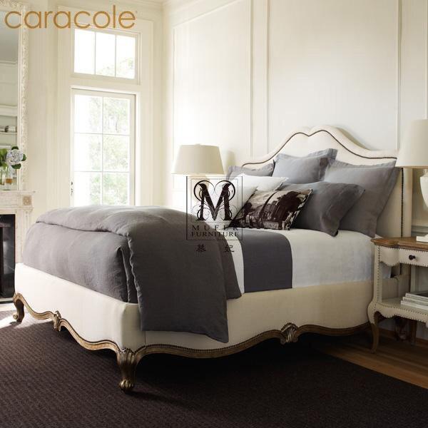 caracole high end custom furniture bedroom furniture european american wood bed frame soft cloth - European Bed Frame