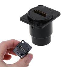 HDMI Loại D RJ45 Ổ Cắm Mạng Cắm Khung Xe Bảng Điều Khiển Gắn Kết Nối Âm Thanh Kim Loại HD Hàng Không Cáp Cat5e Cat6