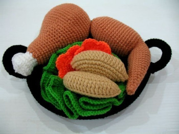 crochet toys  amigurumi  rattle play food   model number w15766