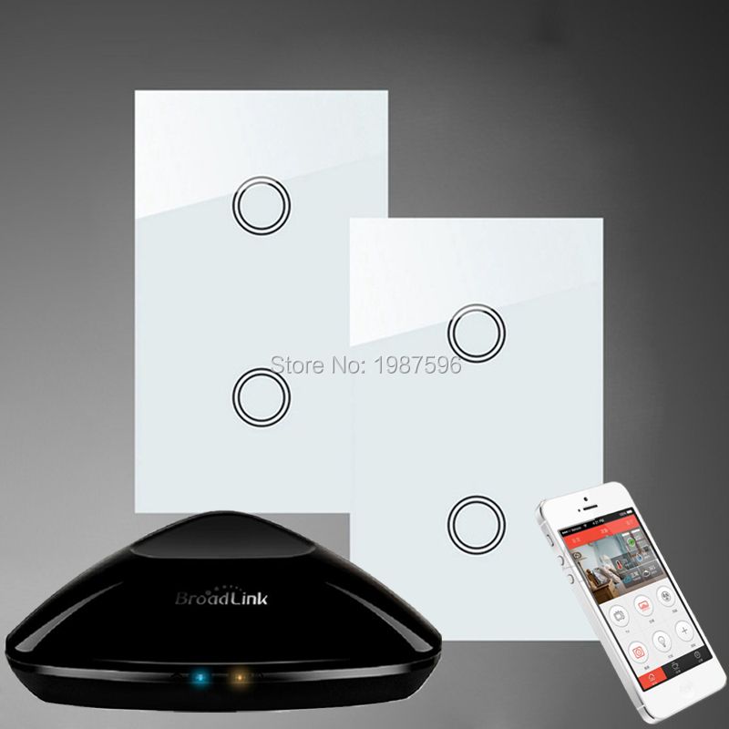 ASEER,AU/US Standard 2Gang2Way Home light Wall Switch,Touch Screen ...