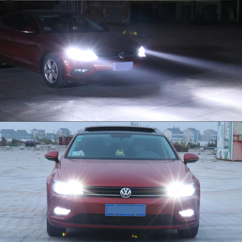 2x H8 H11 Car Auto <font><b>LED</b></font> Fog <font><b>Lights</b></font> Bulb Daytime Running <font><b>Light</b></font> Lamp For <font><b>VW</b></font> Touareg <font><b>Passat</b></font> <font><b>B5</b></font> Jetta Golf 6 7 5 4 Touran Beetle Polo image