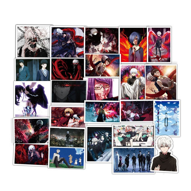 Office & School Supplies Smart 50pcs Tokyo Ghoul Anime Style Stickers Kids Toy Sticker For Diy Luggage Laptop Skateboard Motorcycle Phone Waterproof Sticker