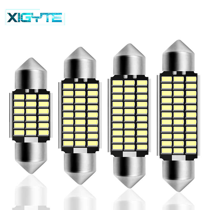 Festoon 31mm 36mm 39mm 42mm LED Bulb C5W C10W Super Bright 4014 SMD Canbus Error Free Auto Interior Doom Lamp Car Styling Light