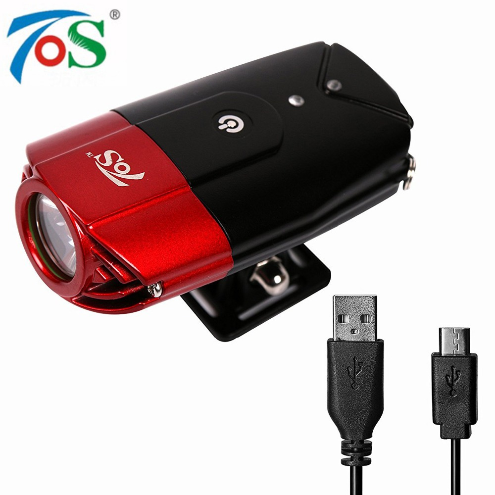 TOS L2 2000mAh Bike Light Front Holder accessories Cycling usb Rechargeable Lamp LED Flashlight for bicycle Light Bike headlight gaciron 1000lumen bicycle bike headlight usb rechargeable cycling flashlight front led torch light 4500mah power bank for phone