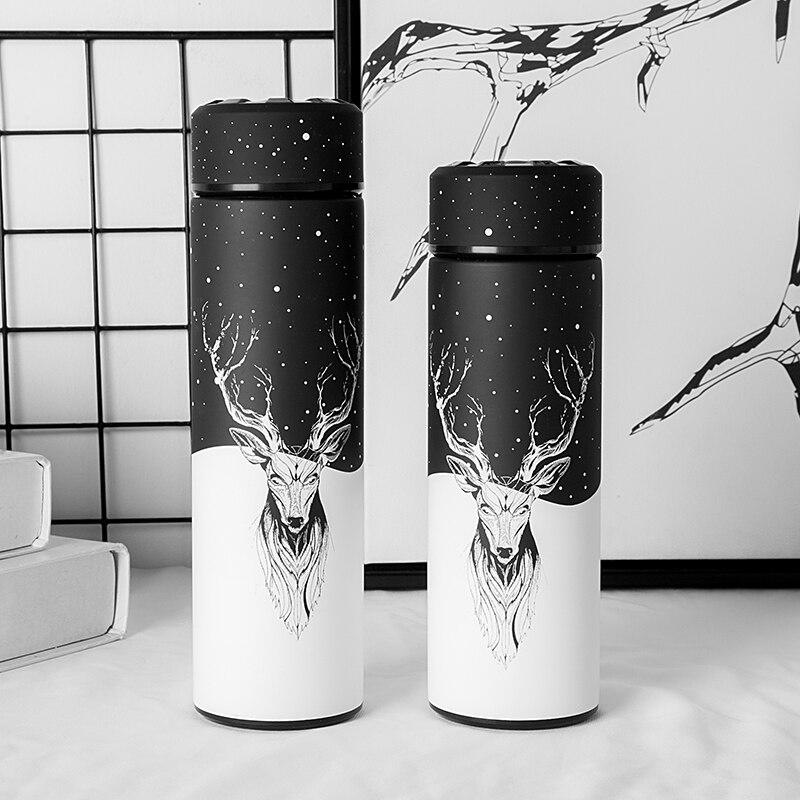 Nuevo estilo termo vacío botella de la botella de agua de acero inoxidable frasco de vacío aislado botella de contenedor al aire libre viajes taza de BPA libre