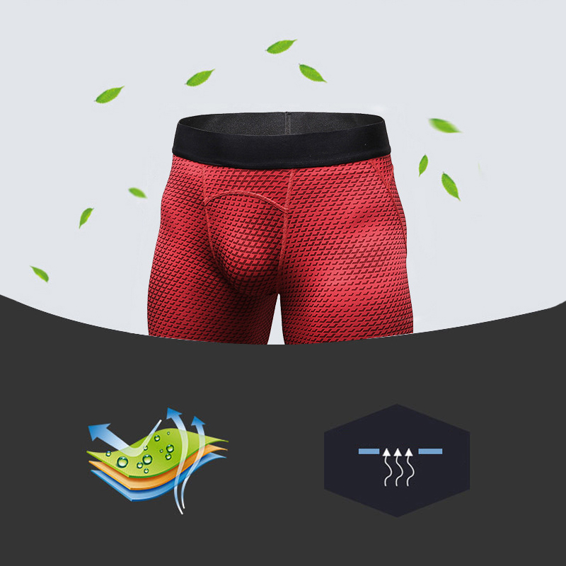 Hot Summer Quickly Dry Gym Sports Men's Workout Shorts Skinny Yoga Trousers Compression Tights