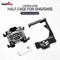 SmallRig DSLR Kamera Stabilisator Halb käfig Kit für Panasonic Lumix GH5 Kamera mit Batterie Griff Mit 15mm Rod Clamp 2024