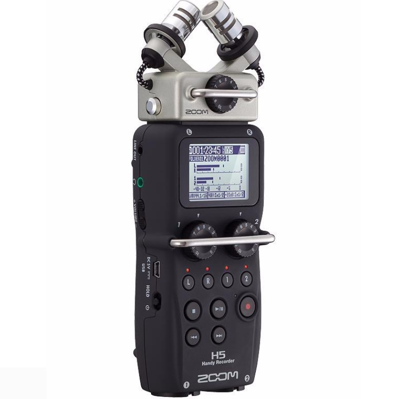 Hot In stock ZOOM H5 professional handheld digital recorder Four Track Portable Recorder H4N upgraded version