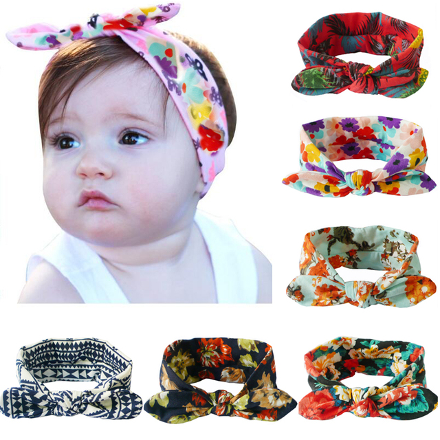 9f90c62a8ff Headband Bow For Girl Rabbit Ear Hairbands Turban Knot Turbans Accessoire  Faixa Cabelo Para Girl