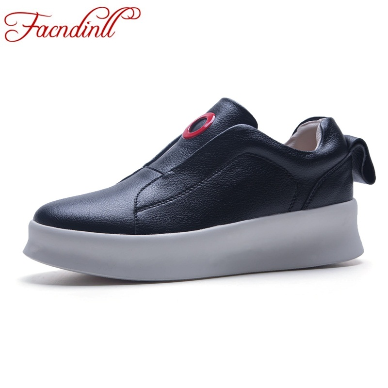 brand women leather loafers 2018 autumn summer casual shoes round toe slip-on comfortable ballet flats women driving shoes women cresfimix zapatos women cute flat shoes lady spring and summer pu leather flats female casual soft comfortable slip on shoes