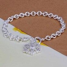 2016 Hot Silver Color Jewelry bracelet, silver plated wristlet vintage-accessories Snow bracelet /XPXMVZUX AFUHQZOSI