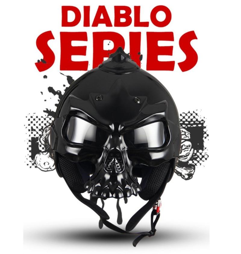 Бесплатная доставка 7 Цвет двойной использовать череп мотоциклетный шлем capacete КАСКО Новинка Ретро шлем мотоцикл шлем матовый черный
