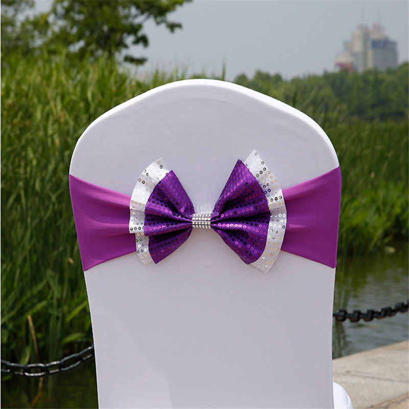 100 PcsLot wedding  chair sash tie bow chair cover band leather chair sashes  free shipping Marious