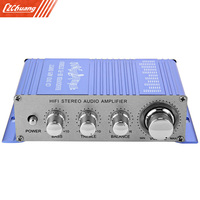 HY 2002 Hi Fi 12V Mini Auto Car Stereo Amplifier 2 Channel Audio Amplifier Support CD