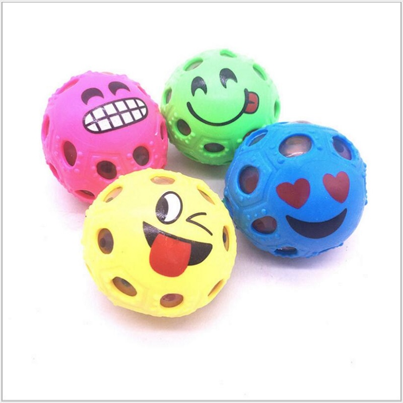 2018 New Arrival 1PCS Funny Smiley Face Anti Stress Reliever Ball For Adult Mood Toys Squeeze Relief