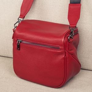 Image 3 - 本革のクロスボディバッグ女性のショルダーバッグの女性の高級ハンドバッグファッションサドルバッグの女性のトート財布嚢メイン